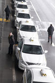 Taxi all'aeroporto di kiev — Foto Stock