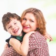 Happy mother with little son — Stock Photo