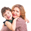 Young happy mother with little son — Stock Photo