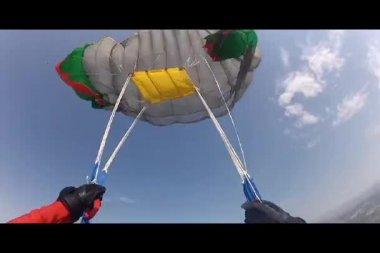 Parachute Opening — Stock Video