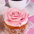 Muffin with coffee — Stockfoto