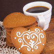 Chocolate cookies with cup of coffee — Stock Photo #26687643
