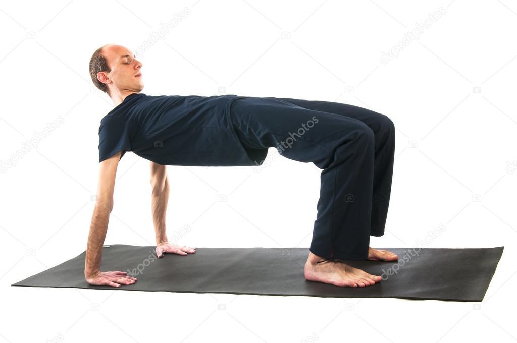 Man doing table asana pose stock photo nanka photo for Table yoga pose