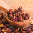 Sichuan pepper in spoon — Stock Photo