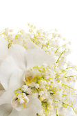 белый букет невесты — Стоковое фото
