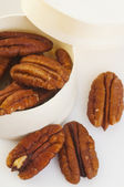 Brown Pecan Nuts in Box — Stock Photo
