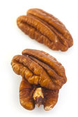 Three Pecan Nuts — Stock Photo
