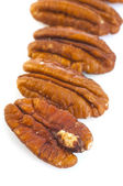 Four Pecan Nuts — Stock Photo