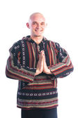 Man making Namaste mudra gesture — Stock Photo