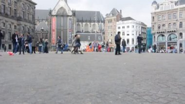 The Royal Palace in Dam Square, Amsterdam, Netherlands — Stock Video