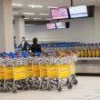 Baggage carts at Schiphol Airport, Amsterdam, Netherlands. — Stock Photo
