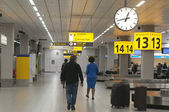 Baggage carousel at the Schiphol Airport, Amsterdam — Foto Stock
