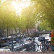Bicycles  in Amsterdam — Stock Photo