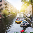 Brouwersgracht canal — Stock Photo