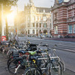Bicycles on the Paulus Potter Street — Foto de Stock