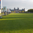 Van Gogh Museum and Rijksmuseum on Museumplein — Stock Photo