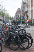 Bicycles on the Paulus Potter Street in Amsterdam — Stock Photo