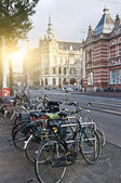 Bicycles on the Paulus Potter Street — Stock Photo