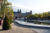 The Rijksmuseum museum area in Amsterdam — Stock Photo