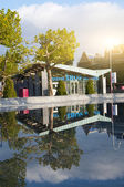 Shop museum on Museumplein in Amsterdam — Stockfoto