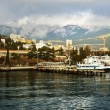 Port in the city of Yalta — Stock Photo