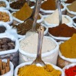 Indian colored powder spices in Goa. — Stock Photo