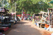 Arambol market with souvenirs — Stockfoto