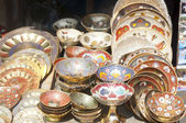 Ornate Indian plates for sale — Stock Photo