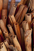Close-up of cinnamon on the market — Stock Photo