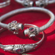 Indian silver bracelets — Stock Photo