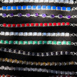 Indian necklaces on the market in India — ストック写真