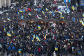 Ukrainian people demand the resignation of the government and early voting — Fotografia Stock