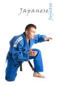 Yakışıklı delikanlı jiu-jitsu pratik — Stok fotoğraf