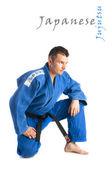 Hombre guapo practicar jiu-jitsu — Foto de Stock