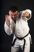 Man practicing Brazilian jiu-jitsu (BJJ) — Foto de Stock
