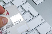 Online payments with credit card — Photo