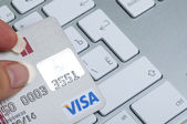 Visa Credit card online payments — Stock Photo