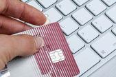 Paiements en ligne par carte de crédit — Photo