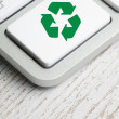 Stock Photo: Recycle symbol on a Computer keyboard
