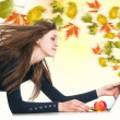 Creative leaves wind from laptop — Stock Photo #38663779