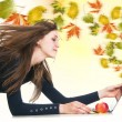 Creative leaves wind from laptop — Stock Photo