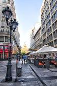 Een van de centrale straat in boedapest — Stockfoto