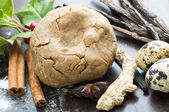 Ginger Dough and species — Stock Photo