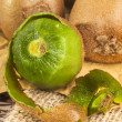 Stock Photo: Peeled kiwi
