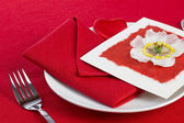 Valentine's Day Table — Stock Photo