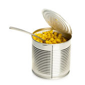 Tinned corn — Stock Photo