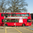 Stock Photo: Red London  double-decker bus