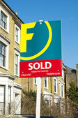 Foxtons property in London — Stock Photo
