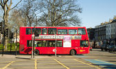 Red London  double-decker bus — Stock Photo
