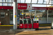 Texaco gas station in London — Stok fotoğraf